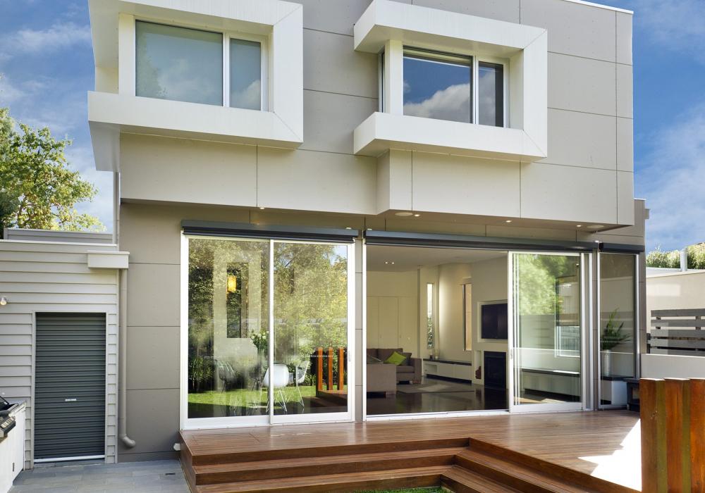 Backyard View of Two Storey Period Home Extension in Glen Iris