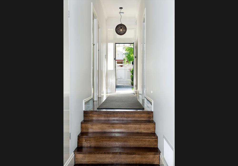 Hallway view of Glen Iris Period Home Extension