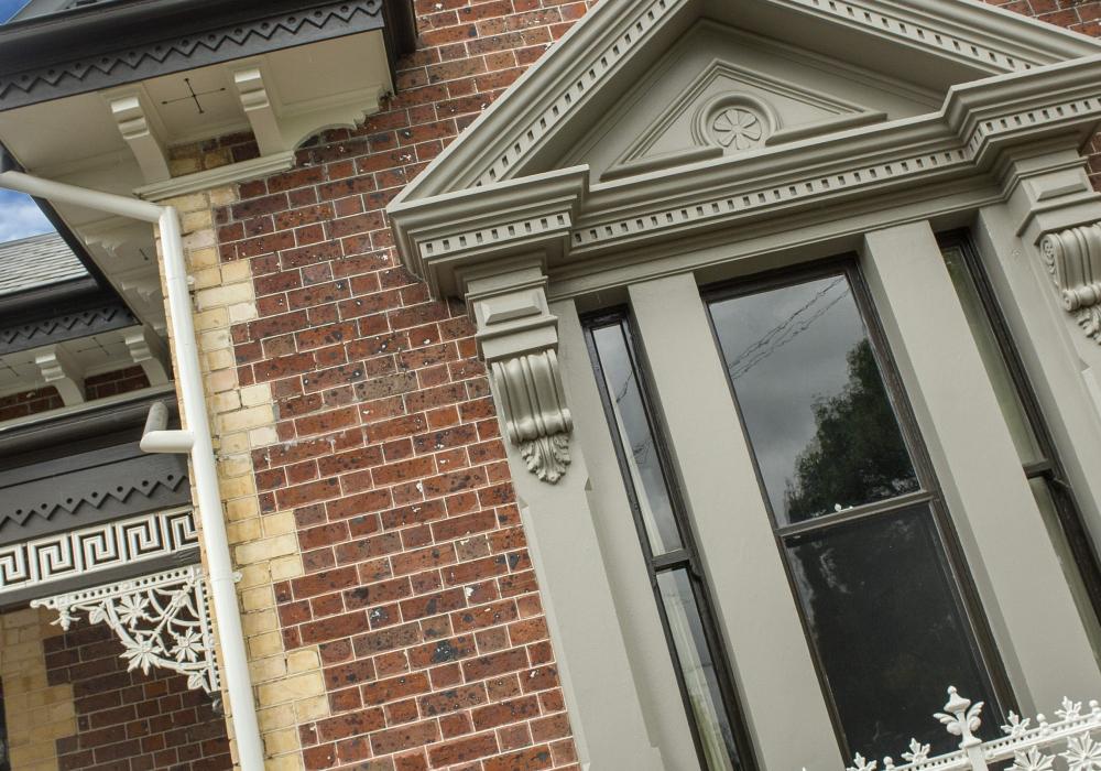Brickwork Closeup of Period Home Restoration in Brighton